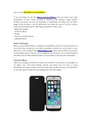 How to Get the Best Battery Case for iPhone 6?.pdf