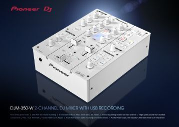 djm-350-w 2-channel dj mixer with usb recording - Pioneer
