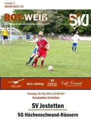 RotWeiss Ausgabe 12 Saison 2014/15