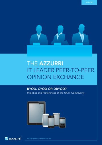 THE AZZURRI IT LEADER PEER-TO-PEER OPINION EXCHANGE