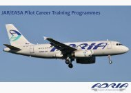JAR/EASA Pilot Career Training Programmes - Adria Airways Flight ...