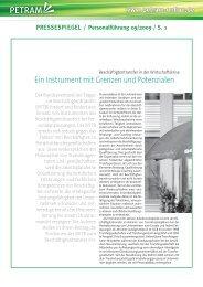 Ein Instrument mit  Grenzen - Petram Personaltransfer GmbH