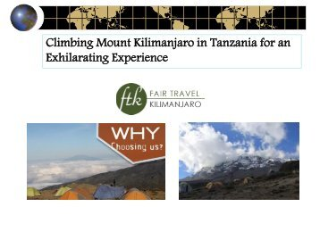 Climbing Mount Kilimanjaro in Tanzania for an Exhilarating Experience