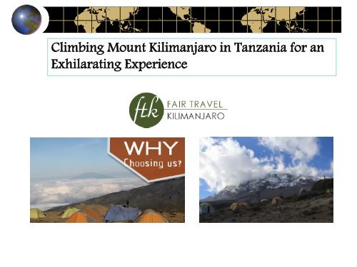 Climbing Mount Kilimanjaro in Tanzania for an Exhilarating Experience