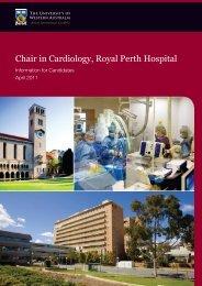 Chair in Cardiology, Royal Perth Hospital - His.admin.uwa.edu.au
