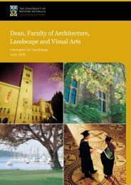 Dean, Faculty of Architecture, Landscape and Visual Arts