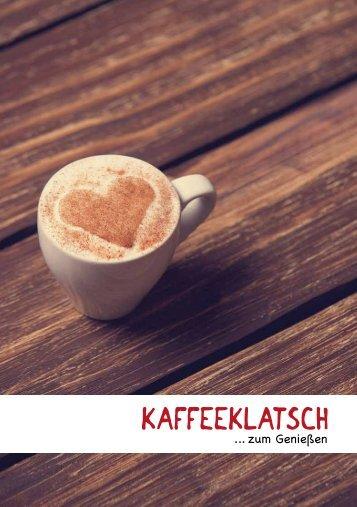 Speisekarte Kaffeeklatsch ... zum Genießen