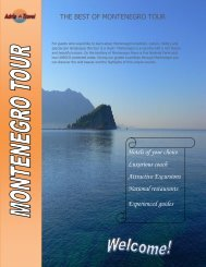 THE BEST OF MONTENEGRO TOUR Hotels of your ... - Adria Travel