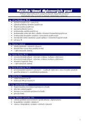 Nabídka témat diplomových prací Nabídka témat diplomových prací
