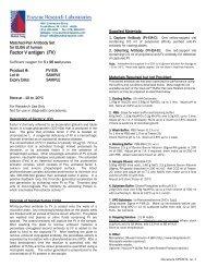 Factor V antigen (FV) - Enzyme Research Laboratories