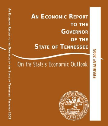 Economic Report to the Governor 2003 - Center for Business and ...