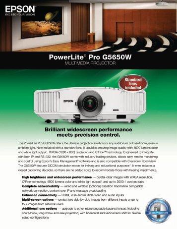 Powerlite® Pro G5650W