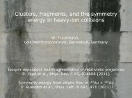 Clusters, fragments, and the symmetry energy in heavy-ion ... -  Ect