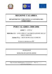 Allegato 1 - Regione Calabria - Dipartimento Urbanistica e Governo ...