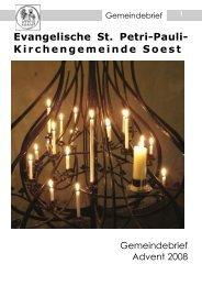 Angebote der Jugendkirche Soest - St.Petri-Pauli Soest