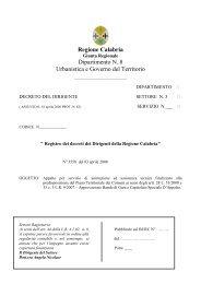 Decreto di approvazione - Regione Calabria - Dipartimento ...