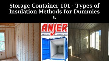 Insulation Methods for Dummies