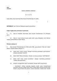 Draf Rang Undang-Undang Akta Industri Perkhidmatan Air (Pindaan)