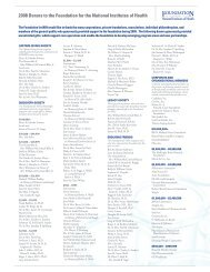 2008 Donors to the Foundation for  the National Institutes of Health
