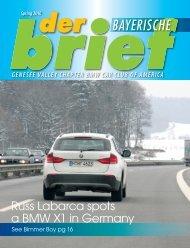 Spring 2010 BAYERISCHE - Genesee Valley Chapter BMW CCA