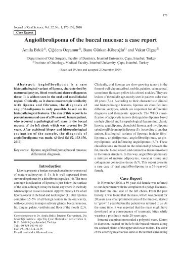 Angiofibrolipoma of the buccal mucosa: a case report