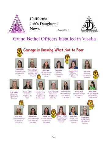 Bethel No. 102 of Grass Valley Cere - California Job's Daughters ...