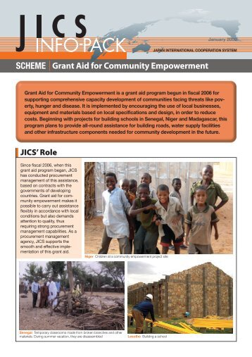 SCHEME Grant Aid for Community Empowerment