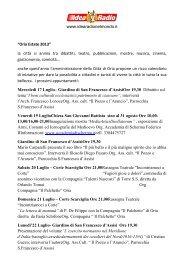 News Oria Estate Luglio - Idea Radio