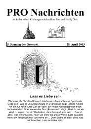 Pro-Nachrichten 28. April 2013 - Herz Jesu Fechenheim