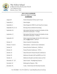 2013-2014 CALENDAR Dates are subject to change 1st Semester