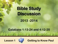 Bible Study Discussion