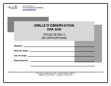 Grille d 39 observation cole d 39 orthophonie et d - Grille d observation comportementale ...