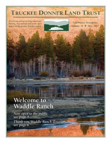 Download newsletter - Truckee Donner Land Trust