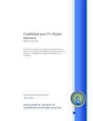 LEITE, L.A.F.. Usabilidade  para TV Digital Interativa. Relatório - LTS-i