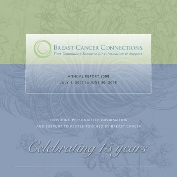 Celebrating15 years - Breast Cancer Connections