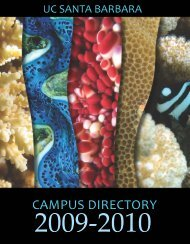 2009-2010 Campus Directory PDF - Bren School of Environmental ...