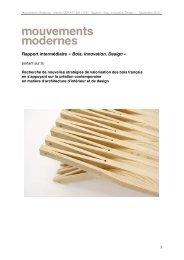 Télécharger le rapport Bois - Innovation - Design - Ministère de l ...