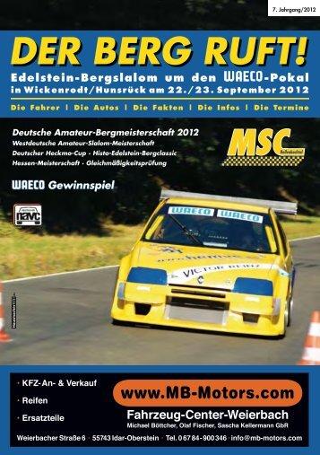 Der Berg Ruft auch 2012 - MSC-Bollenbachtal eV im NAVC