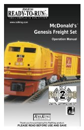 McDonald's Genesis Freight Set McDonald's Genesis ... - MTH Trains