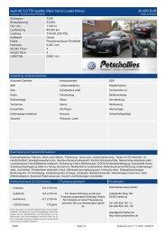 Audi A6 Avant 2,0 TDI 130 kW 6-Gang (Navi Xenon ... - Petschallies
