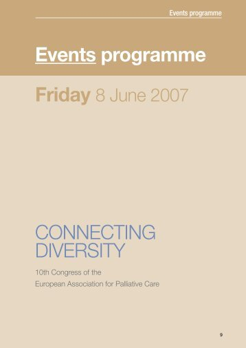 Events programme Friday - European Association for Palliative Care