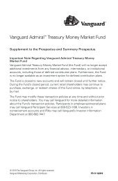 Vanguard Admiral Shares expansion: Lower fund