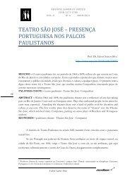 TEATRO SÃO JOSÉ – PRESENÇA PORTUGUESA NOS PALCOS ...