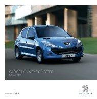Farben und POLSTer - Peugeot