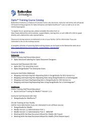 Optio Training Course Catalog - Bottomline Technologies