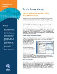 Bottomline Sprinter Invoice Manager for AP Automation