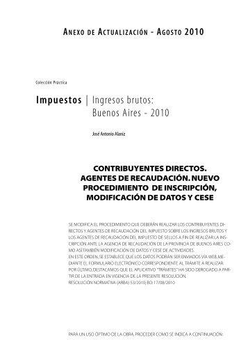 Impuestos | Ingresos brutos: Buenos Aires - 2010 - Errepar