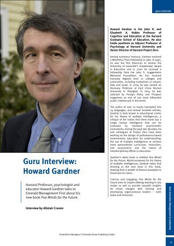 Guru Interview: Howard Gardner