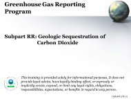 GHG Reporting Program: Subpart RR, Geologic Sequestration of ...