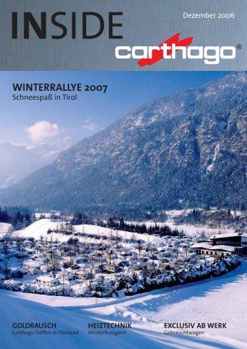 WINTERRALLYE 2007 - Carthago Reisemobilbau GmbH